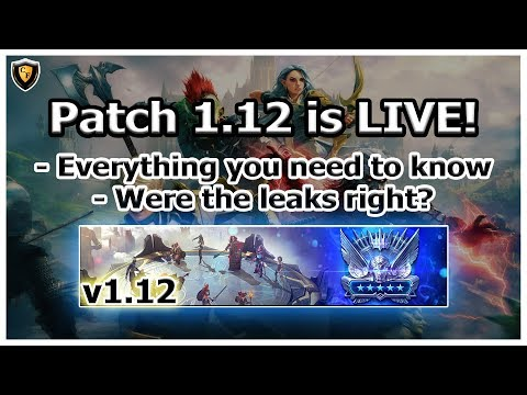 RAID Shadow Legends | PATCH 1.12 IS LIVE! Everything you need to know / Live first reaction