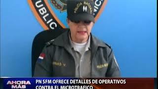 Policía Nacional ofrece detalles de operativos contra el microtráfico en SFM