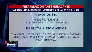 Preparación ante huracanes: Artículos libres de impuestos (1 al 7 de junio)