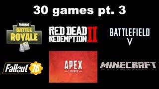 30 games described in 1 sentence pt. 3