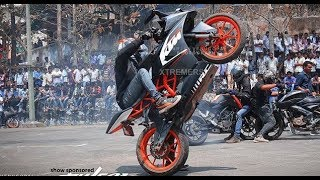 KTM RC 200 | KTM Duke 200 |  KTM Stunt Show 2017 | New Awesome Stunt | Must Watch |HD