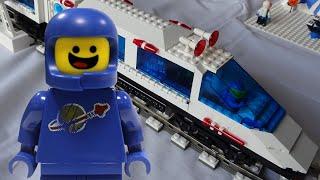 Lego Train space MOC in huge Lego classic space setup