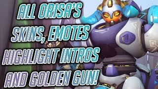 Overwatch Orisa's Skins, Emotes, Voicelines and Golden Gun! - PVP Live