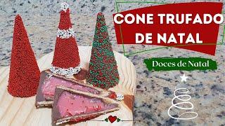 CONE TRUFADO DE NATAL (CROCANTE) - DOCES DE NATAL