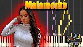 🎵 Malamente - Rosalía [Piano Tutorial] (Synthesia) HD Cover