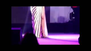 haifa wehbe mega sexy striped dress