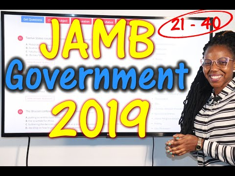 JAMB CBT Government 2019 Past Questions 21 - 40