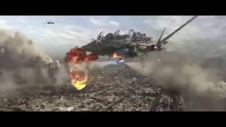 Skyline epic nuke scene with attack on titan music