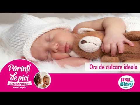 Ora de culcare ideala pentru copil