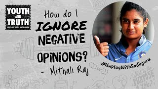 How To Ignore Negative Opinions? Mithali Raj Asks Sadhguru
