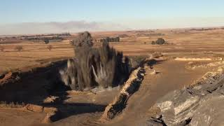 Huge Explosion In The Field (HD)