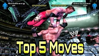 Top 5 moves of Goldberg || WWE SmackDown! Here Comes The Pain