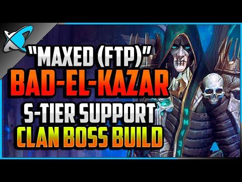 """MAXED (F2P)"" Bad-El-Kazar Build, Guide & Masteries | S-tier Support Champion | RAID: Shadow Legends"