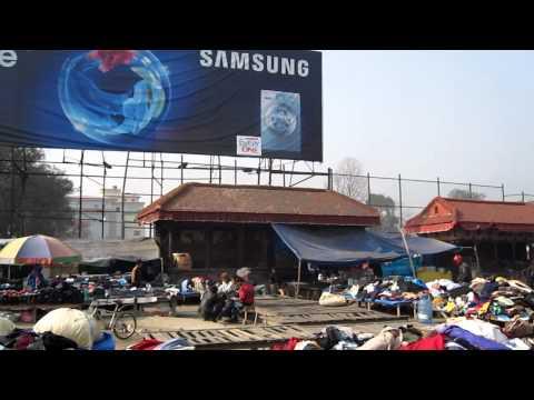 Open Air Clothing Market in Kathmandu Nepal