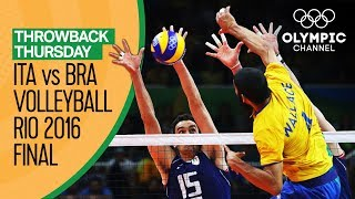 Italy vs Brazil – Men's Volleyball Gold Medal Match at Rio 2016   Throwback Thursday