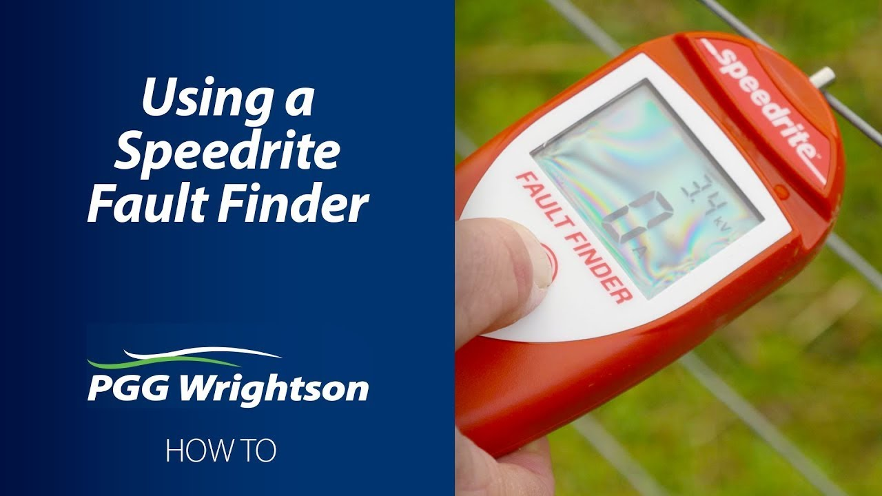 How to use a SpeedRite Fault Finder