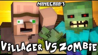 """VILLAGER VS ZOMBIE"" - A Minecraft Music"