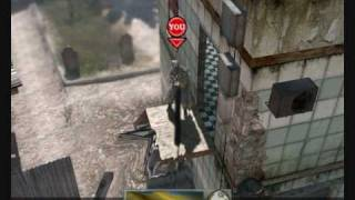 Modern warfare 2 Throwing knife tricks on Favela