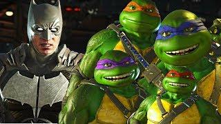 Injustice 2 - Ninja Turtles vs Batman All Intro Dialogue