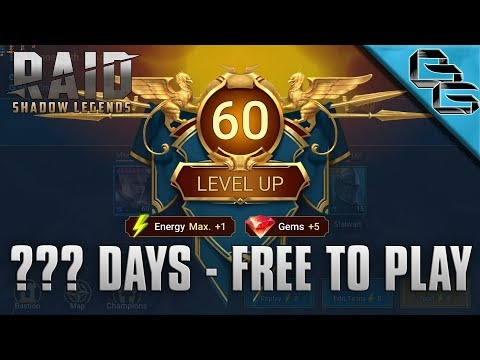 RAID: Shadow Legends | REACHING LEVEL 60 AS A FREE TO PLAY PLAYER!!! | Strategies