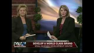 "Fox 21 Morning News – ""Develop A World-Class Brand on a Small Business Budget"" workshop promotion."