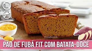 miniatura PÃO DE FUBÁ FIT COM BATATA-DOCE SEM GLÚTEN SEM LACTOSE [MASSA MOLE]