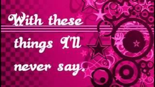 Avril Lavigne - Things I'll Never Say (Lyrics)