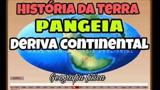 Deriva Continental PANGEIA - Animação. Placas Tectônicas - MOVIMENTO DOS CONTINENTES