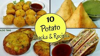 10 Potato Snacks & Recipes || by Priya
