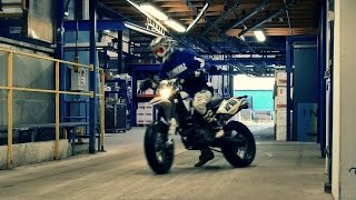 SMF #43: Urban Supermoto Ride Inside A Factory - World Is A Playground Pt. II - Supermofools