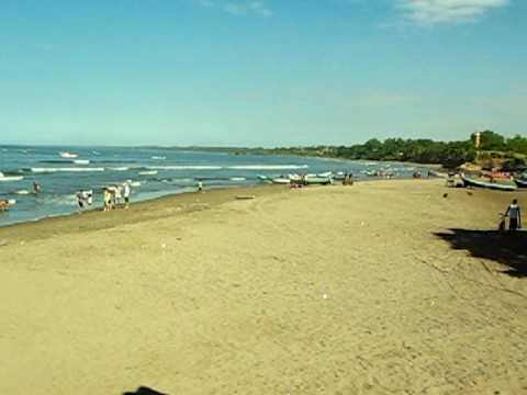 Panoramic View of the beach @ Masachapa Beach, Nicaragua (Hotel Summer)