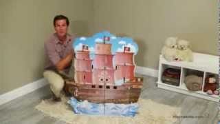 Teamson Kids Pirate Boat Play House with Furniture - Product Review Video