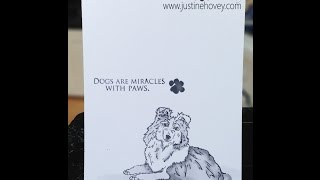 Clean and Simple Sheltie Card feat. JessicaLynnOriginal Stamps!