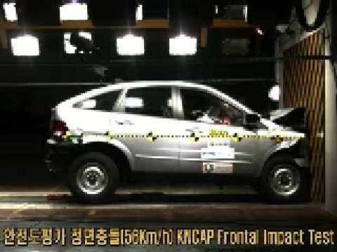 SsangYong Action 2WD 2008 Korean NCAP crash test