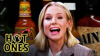 Kristen Bell Ponders Morality While Eating Spicy Wings | Hot Ones