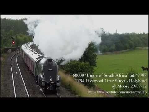 60009 'Union of South Africa' tnt 47798 1Z94 Liverpool Lime Street – Holyhead @ Moore 29/07/12
