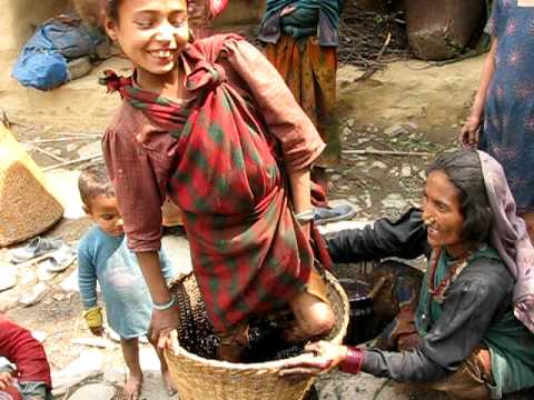 2010 Nepal – girl squashing berries