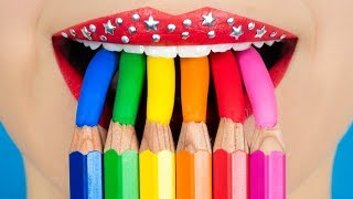 Eat Candy in Class?! Food Hacks, DIY School Supplies & Prank Wars!