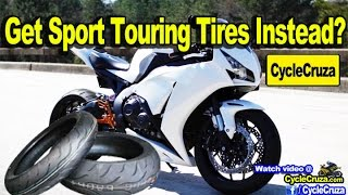 Best SportBike Motorcycle Street Tires = Sport Touring Tires?  Pirelli Angel GT Tires | MotoVlog