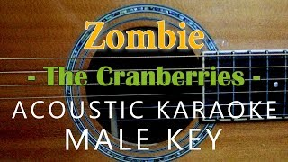 Zombie - The Cranberries [Acoustic Karaoke | Male Key]