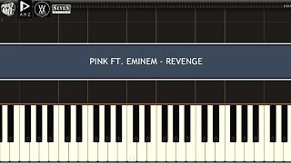 PINK FT.  EMINEM - REVENGE (PIANO TUTORIAL W/ SYNTHESIA)