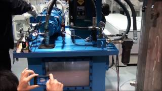 Oilgear pump running on 100% sea water