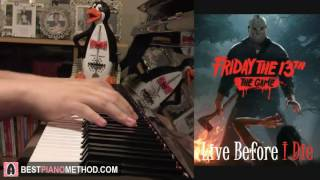 "Friday The 13th (The Game) OST - ""Live Before I Die"" - Crazy Lixx (Piano Cover by Amosdoll)"