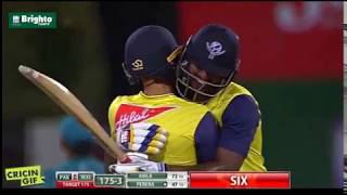 Thisara Perera batting vs Pakistan - Pakistan vs World XI 2nd T20 2017 width=