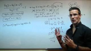 Imagen en miniatura para Ecuación logaritmica 03