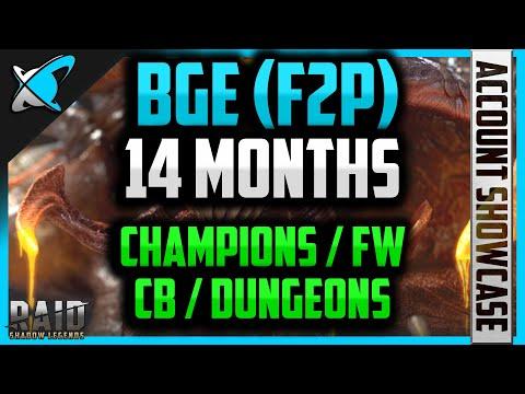 BGE 100% F2P...14 Month Progress !! | Champions, FW, CB, Dungeons | RAID: Shadow Legends