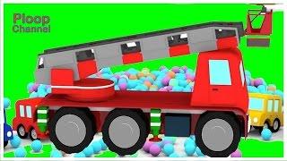 FIRE TRUCK Cartoon! - Cartoon Cars Fire Engine Construction Cartoons for Children - Kids Cartoons