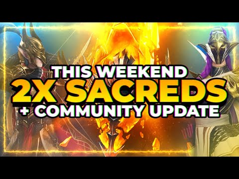2x SACRED Wkend! Champ Design Contest?! | RAID Shadow Legends