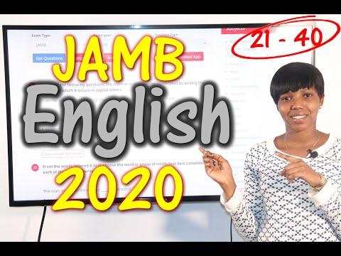 JAMB CBT English 2020 Past Questions 21 - 40