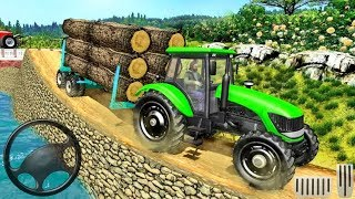 Real Tractor Trolley Cargo Farming Simulation Game   Android Gameplay